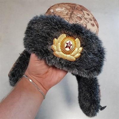 "Шапка-ушанка ""Ангара"" иск.мех + кокарда - фото 260664"