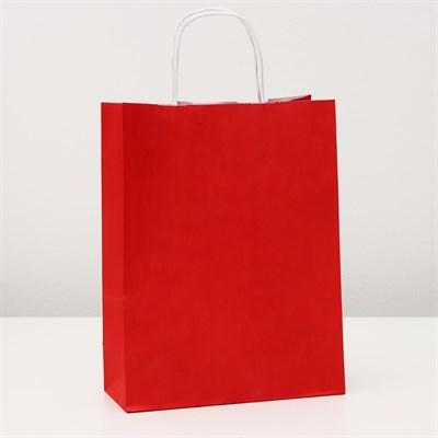 Пакет крафт Радуга (красный) 25х11х32 см - фото 98875