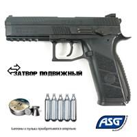 Пневматический пистолет ASG CZ P-09 Duty (пулевой) кал.4,5мм