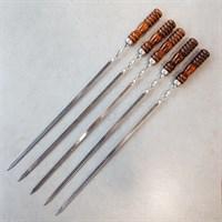 Шампур с Малой деревянной ручкой ст.65х13 г.Кизляр (1шт.)