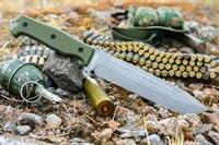 Нож тактический Survivalist-X AUS-8 TW (Tacwash, G10 Олива)