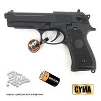 Страйк. пистолет Cyma Beretta M92 AEP кал.6мм (электро)