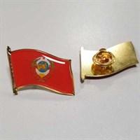 Значок Флажок Герб СССР, заливка смолой